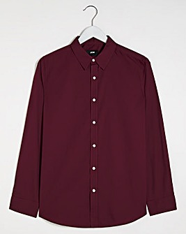 Wine Long Sleeve Formal Shirt Reg