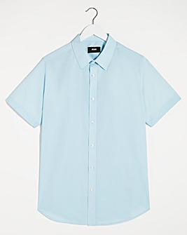 Blue Short Sleeve Formal Shirt Reg