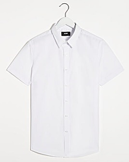 White Short Sleeve Formal Shirt Reg