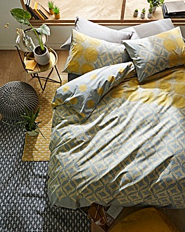 Joel Ochre Patterned Duvet Cover Set