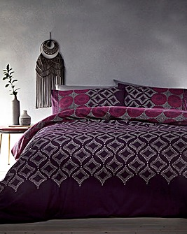 Joel Plum Patterned Duvet Cover Set