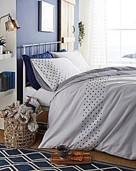 New England Navy Duvet Cover Set