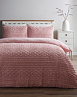Pipin Blush Cuddle Fleece Duvet Cover Set