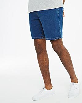 Mid Wash Elasticated Waist Shorts
