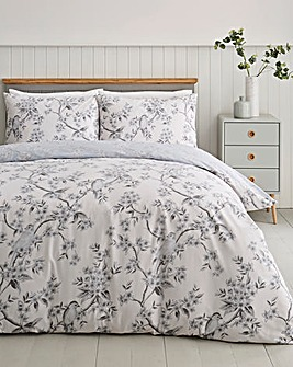 Aurora Birds Monochrome Duvet Cover Set