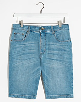 Bleachwash Stretch Denim Shorts