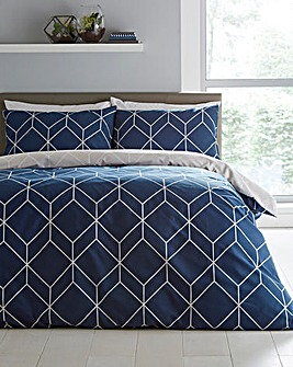 Oberon Navy Duvet Set