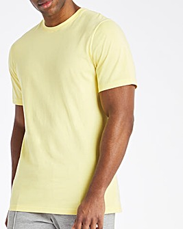 Yellow Crew Neck T-Shirt Long