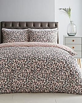 Roar Blush Leopard Print Duvet Set
