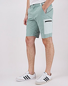 Recycled Colour Block Tech Short