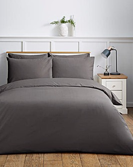 Responsibly Sourced Easy-Care Plain Dye Duvet Cover