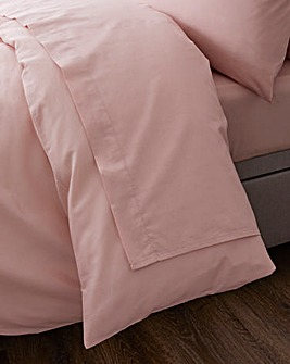 Responsibly Sourced Easy-Care Plain Dye Flat Sheet