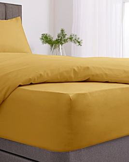 Easy-Care Plain Dye Fitted Sheet