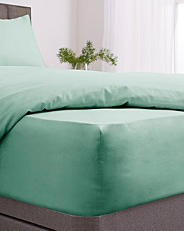 Responsibly Sourced Easy-Care Plain Dye 28cm Fitted Sheet