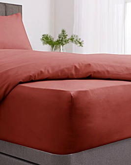 Responsibly Sourced Easy-Care Plain Dye Extra Deep 38cm Fitted Sheet