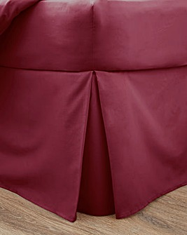 Responsibly Sourced Easy-Care Plain Dye Fitted Valance