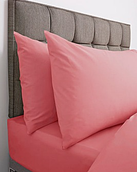 Responsibly Sourced Easy-Care Plain Dye Housewife Pillowcase