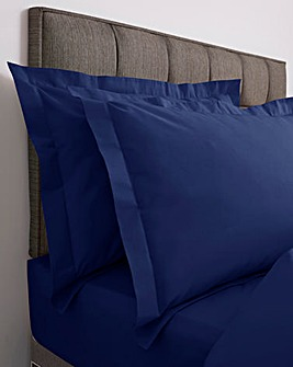 Responsibly Sourced Easy-Care Plain Dye Oxford Pillowcase