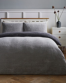 Reversible Fleece Duvet Cover Set