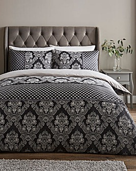 Windsor Jacquard Charcoal Duvet Cover Set