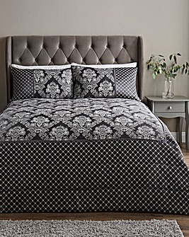 Windsor Jacquard Charcoal Throw