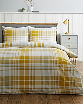 Pete Check Brushed Cotton Duvet Set