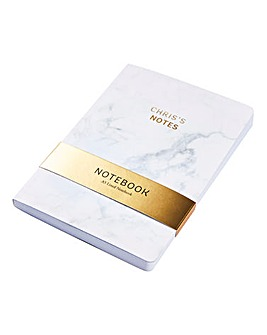 Personalised A5 Marble Notebook