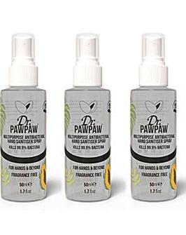 Dr PawPaw Antibacterial Sanitiser Spray x 3