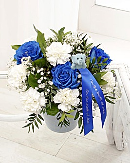 Baby Boy Blue Arrangement