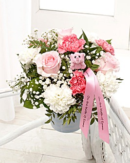 Baby Girl Pink Arrangement