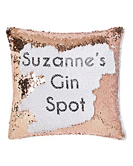 Pers Secret Message Sequin Cushion
