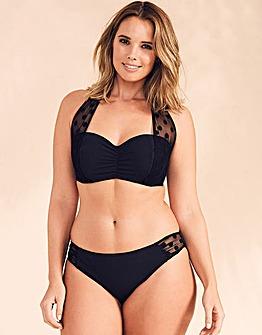 Figleaves Icon Mesh UW Halter Bikini Top