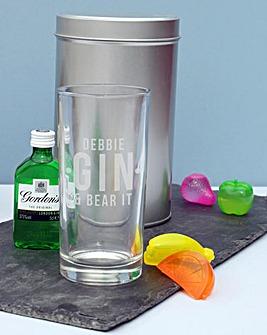 Personalised Gin Tin Gift Set