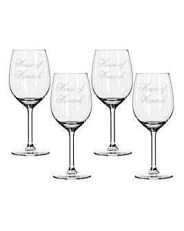 Pers Set of 4 House of Wine Glasses
