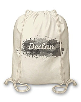 Personalised Splash Drawstring Bag