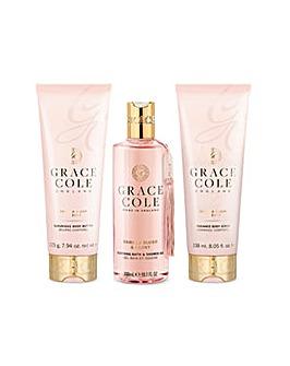 Grace Cole Signature Wild Fig & Pink Cedar Bath & Shower Set
