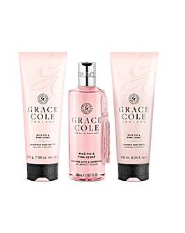 Grace Cole Signature Vanilla Blush & Peony Bath & Shower Set
