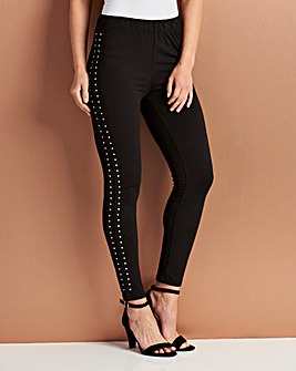 Legging with Stud Detail Trim
