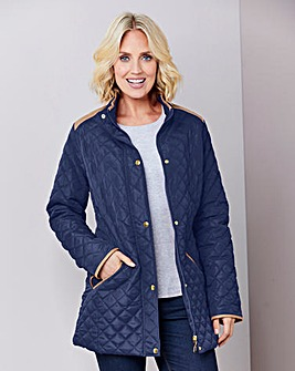 Quilted Jacket With Contrast Piping