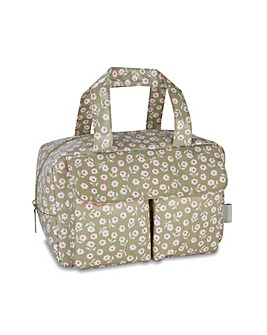 VICTORIA GREEN CARRY ALL WASH BAG DAISY SAGE