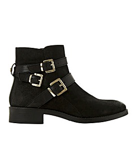 Dune Wide Fit Pheonix Buckle Ankle Boots
