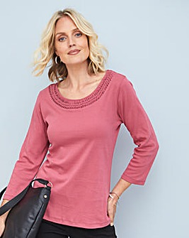 Julipa Jersey Top with Neck Detail