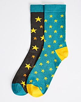Pretty Polly 2PP Star Bamboo Socks
