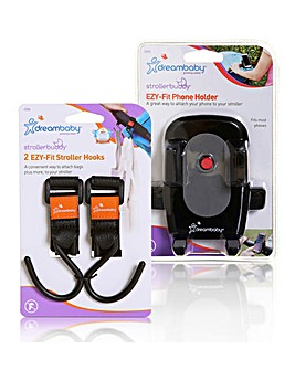 Dreambaby Stroller Clips & Phone Holder
