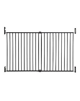Dreambaby Broadway Metal 2-Panel Extending Gro-Gate Xtra-Wide - Charcoal
