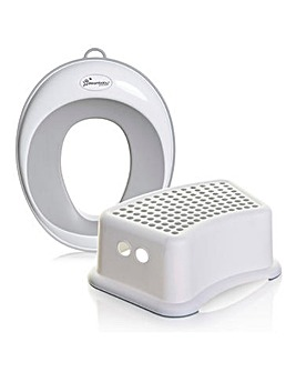Dreambaby Potty Seat & Step Stool Bundle - Grey