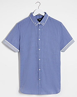 DENIM S/S DOUBLE COLLAR SHIRT REG