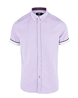 Lilac Double Collar Jaquard S/S Long