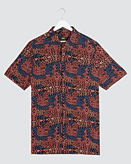 Aztec Short Sleeve Collar Shirt