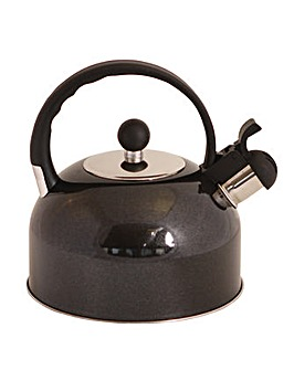 Quest 2.2 Litre Black Stainless Steel Whistling Kettle